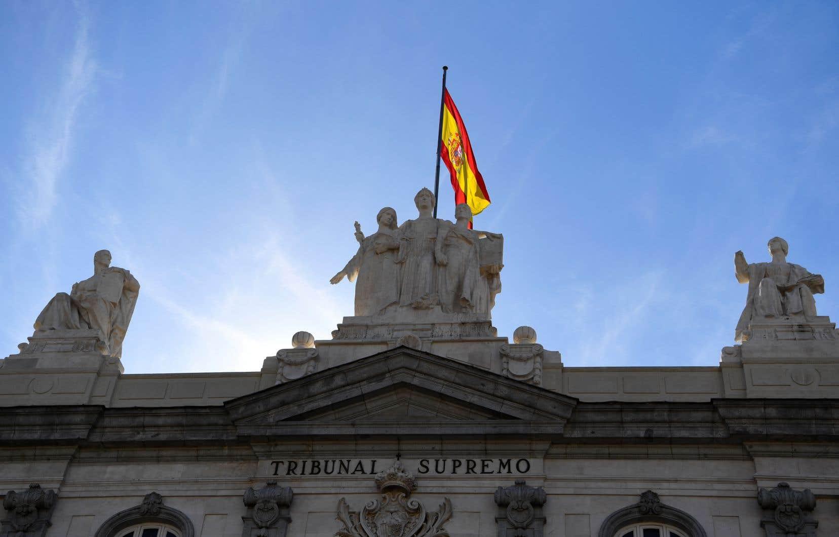 Le Tribunal suprême, à Madrid, où se déroule mardi le procès de 12 leaders séparatistes catalans.