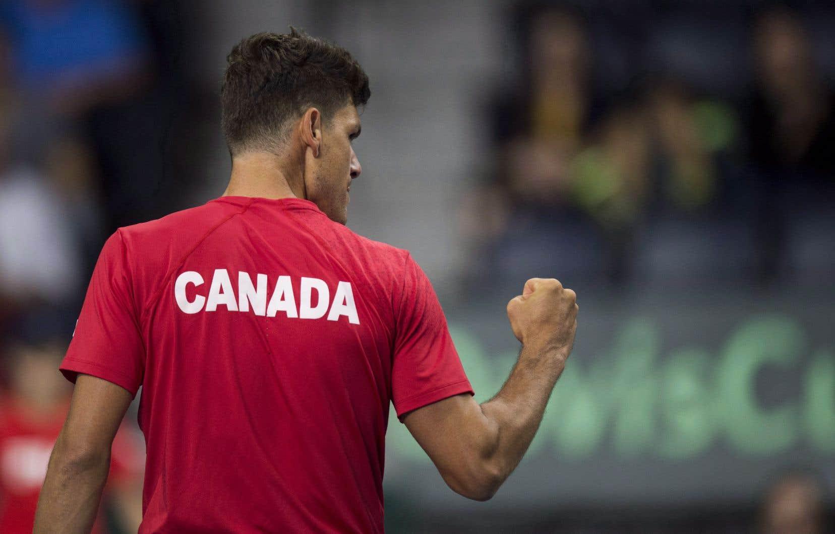 Le capitaine de l'équipe canadienne, Frank Dancevic