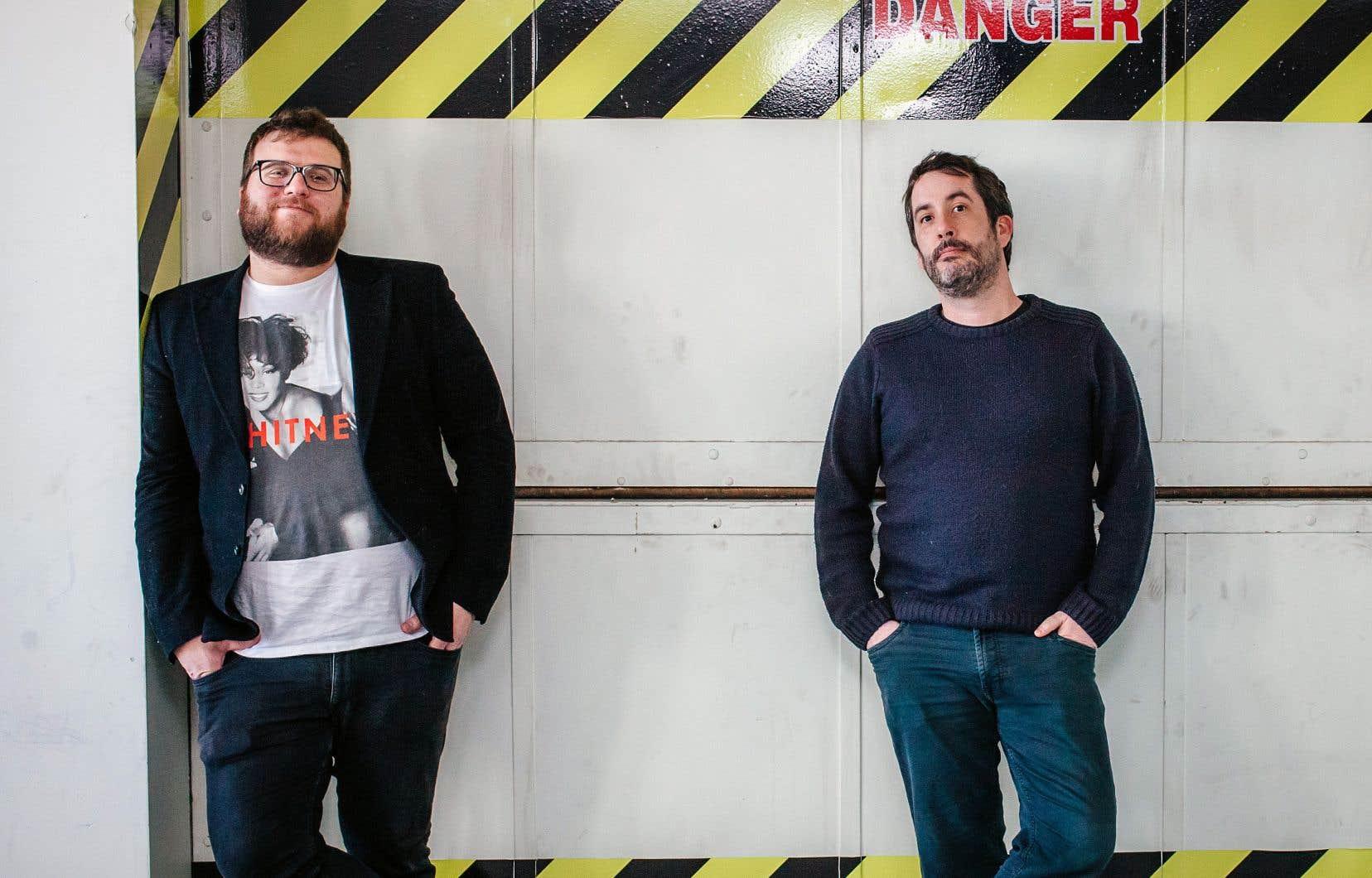 Le réalisateur Rémi St-Michel (à droite) et son comparse de longue date Éric K. Boulianne