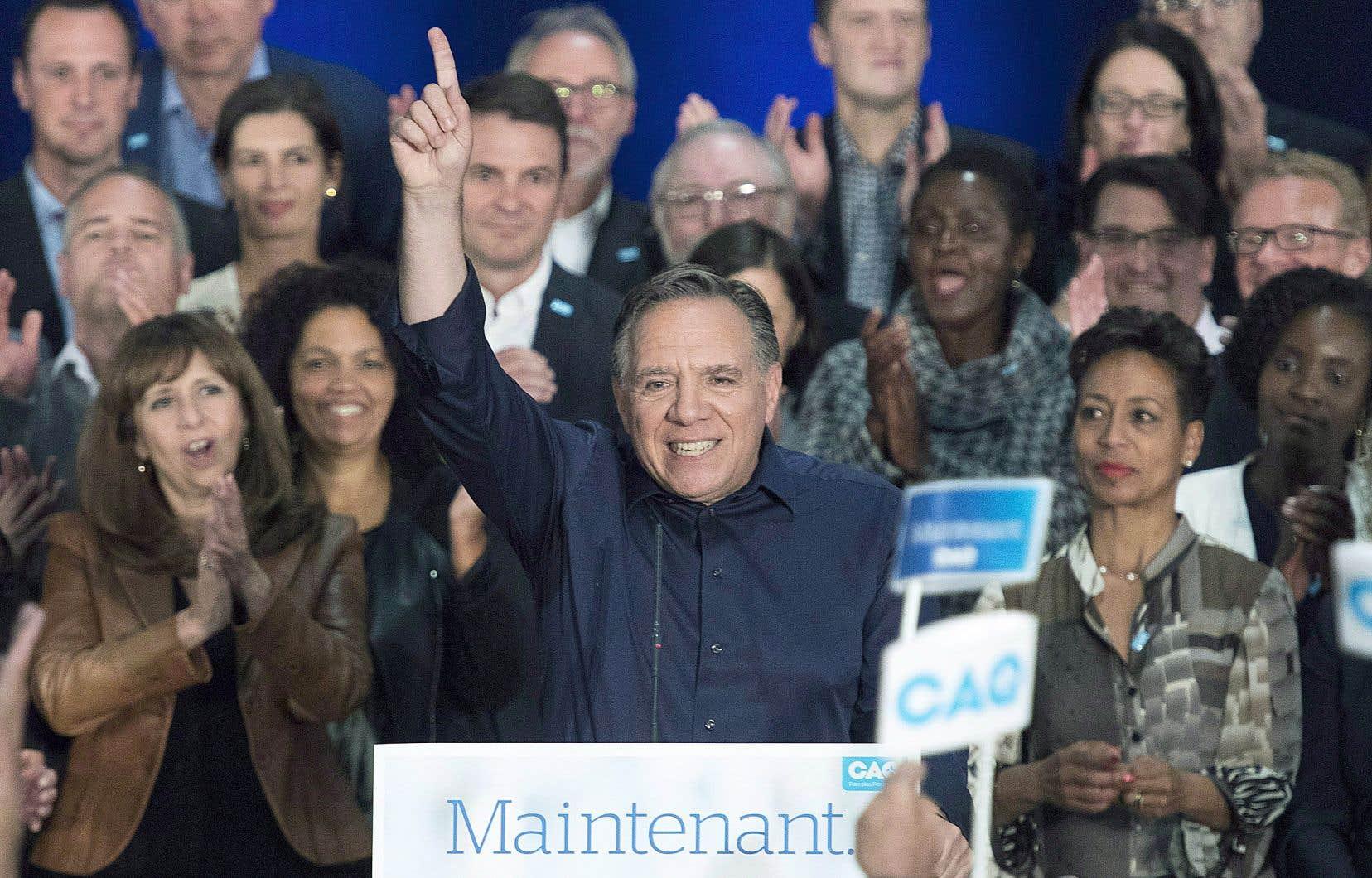 Le parti de François Legault a été porté au pouvoir par 37,42% des électeurs québécois, le 1eroctobre dernier.
