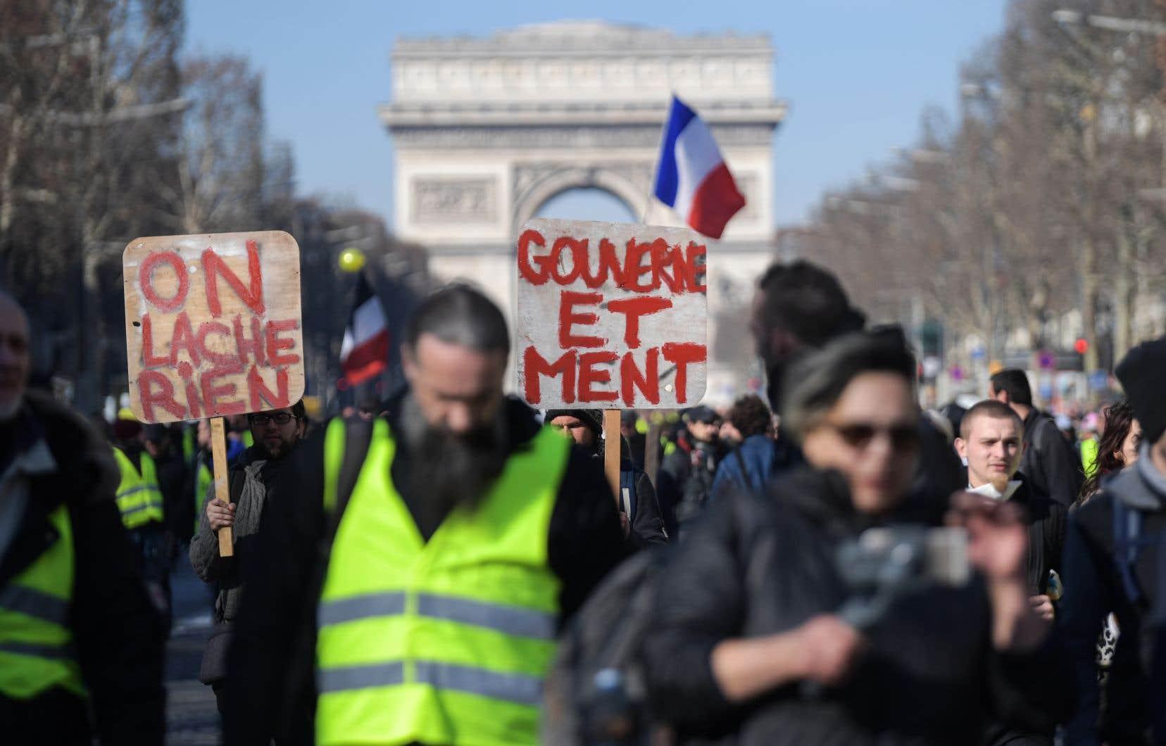 Le ministère de l'Intérieur a dénombré 41500 manifestants en France dont 5000 à Paris, des chiffres en recul par rapport à la semaine précédente mais régulièrement contestés par les «gilets jaunes».