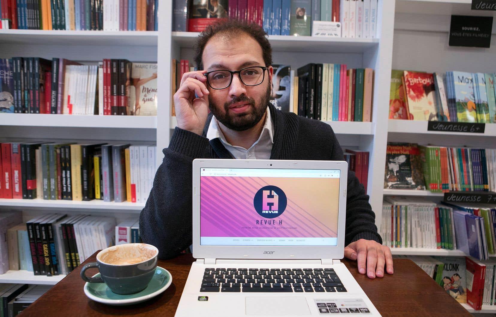Walid Romani a posé les premiers jalons d'une revue francophone de «cryptolittérature».