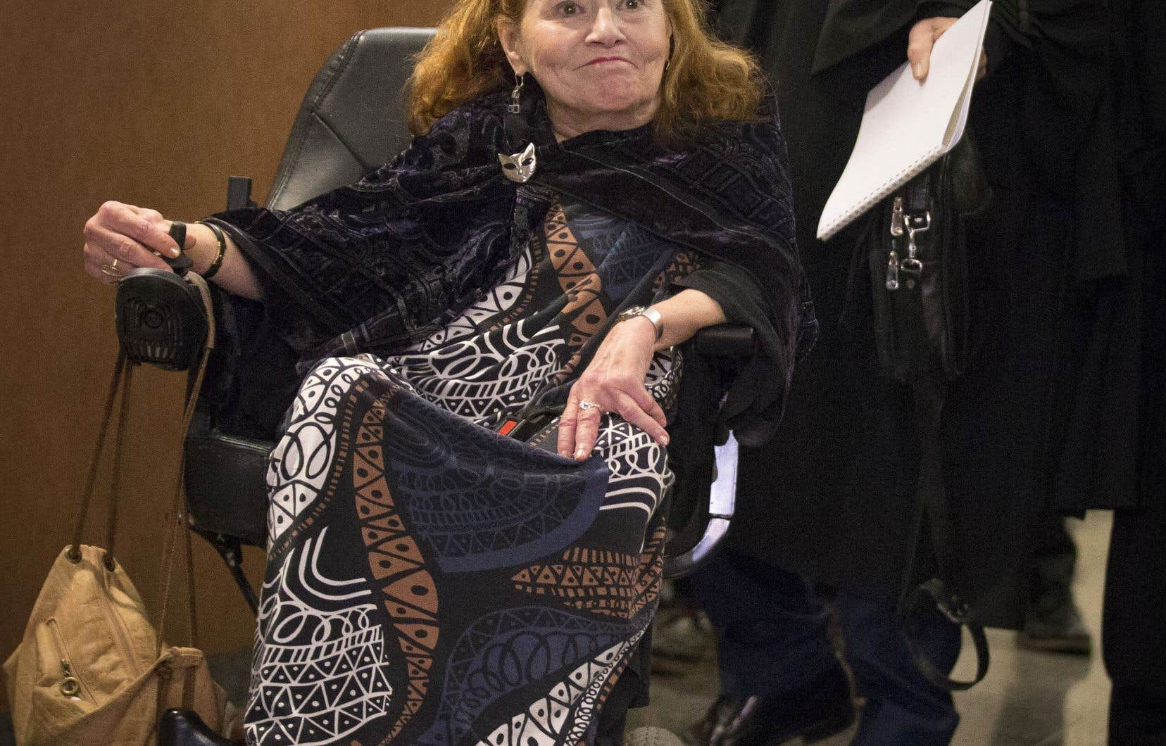 Nicole Gladu est atteinte d'une grave maladie dégénérative.