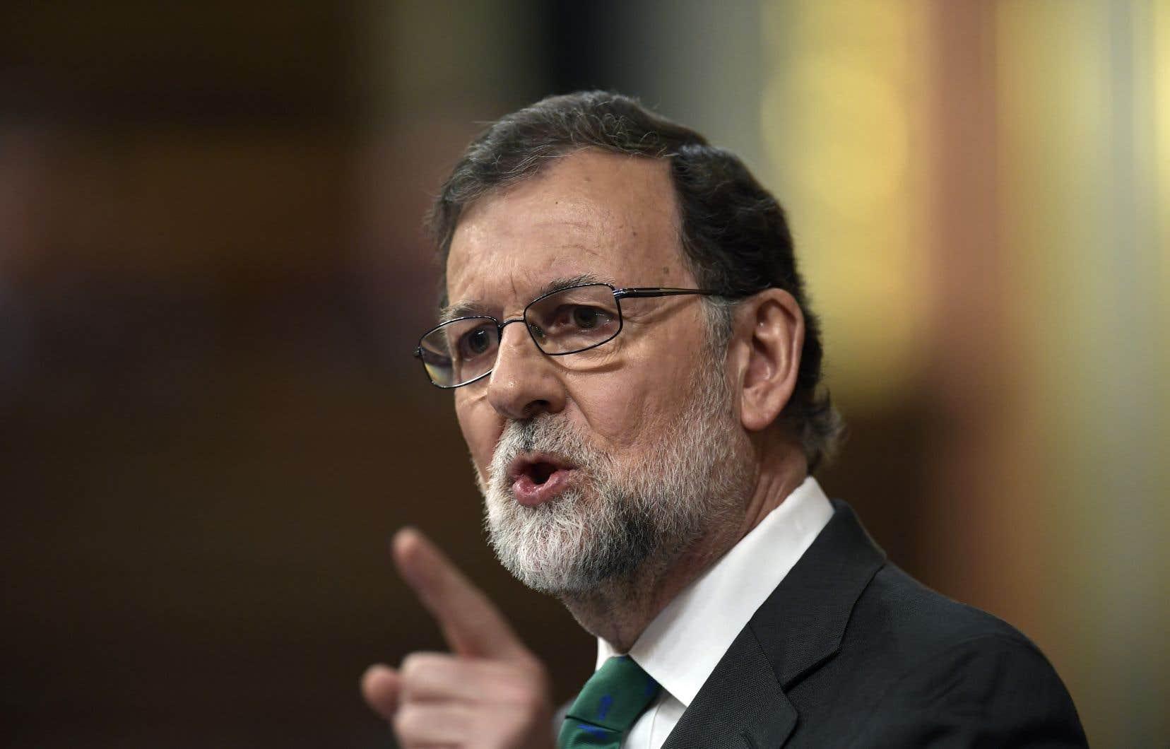 Mariano Rajoy etait le chef du gouvernement espagnol au moment de la tentative de sécession de la Catalogne en octobre 2017.