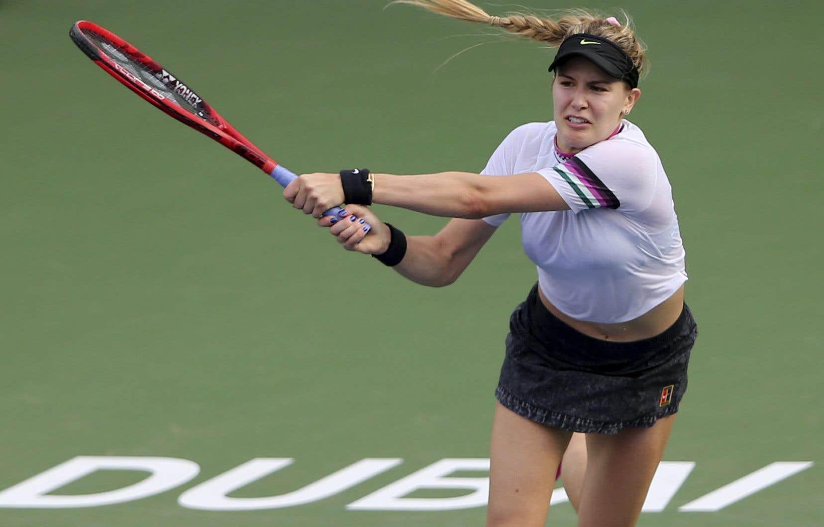 Eugenie Bouchard présente maintenant une fiche de 1-4 en carrière contre Simona Halep.