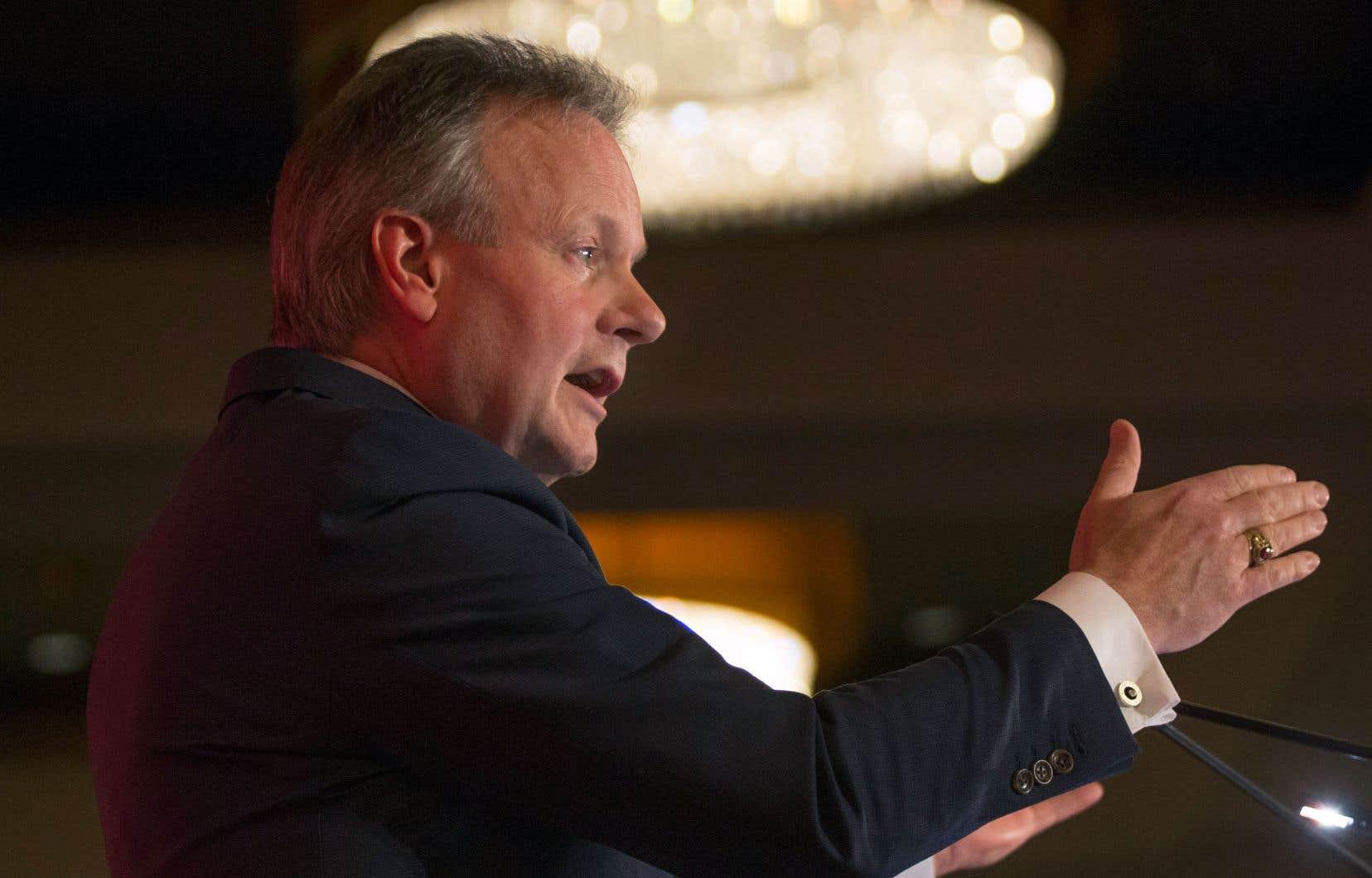 Le gouverneur de la Banque du Canada, Stephen Poloz, a donné une conférence devant plus de 600 membres de la Chambre de commerce du Montréal métropolitain, jeudi.