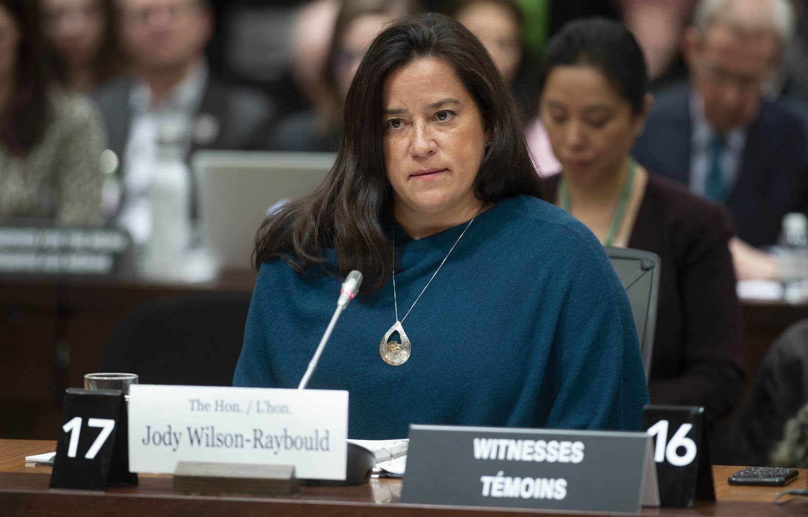 L'ex-ministre de la Justice, la libérale Jody Wilson-Raybould
