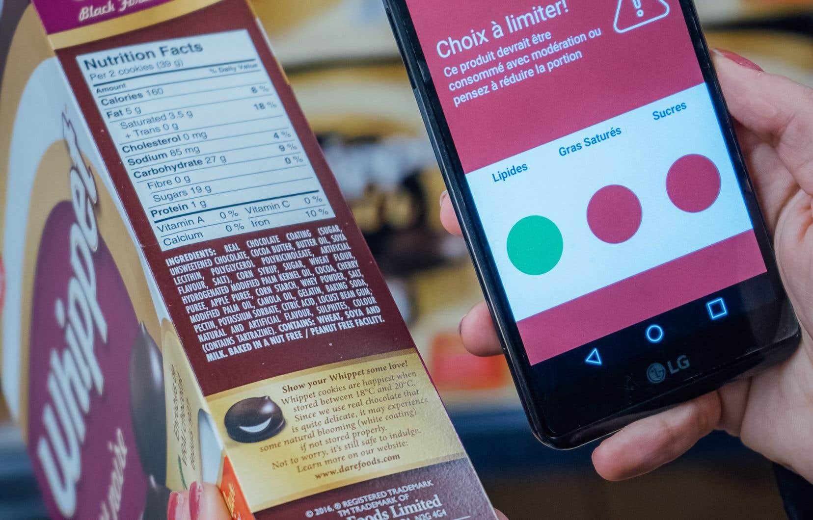 On peut utiliser son téléphone intelligent pour connaître la valeur nutritive des aliments transformés.