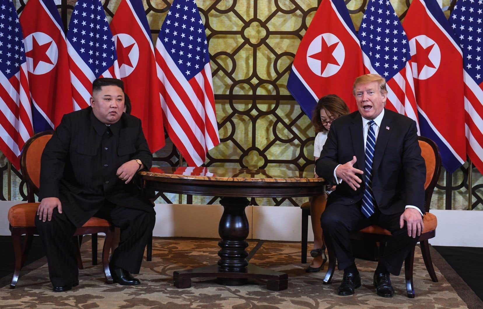 Le dirigeant nord-coréen, Kim Jong-un, et le président américain, Donald Trump