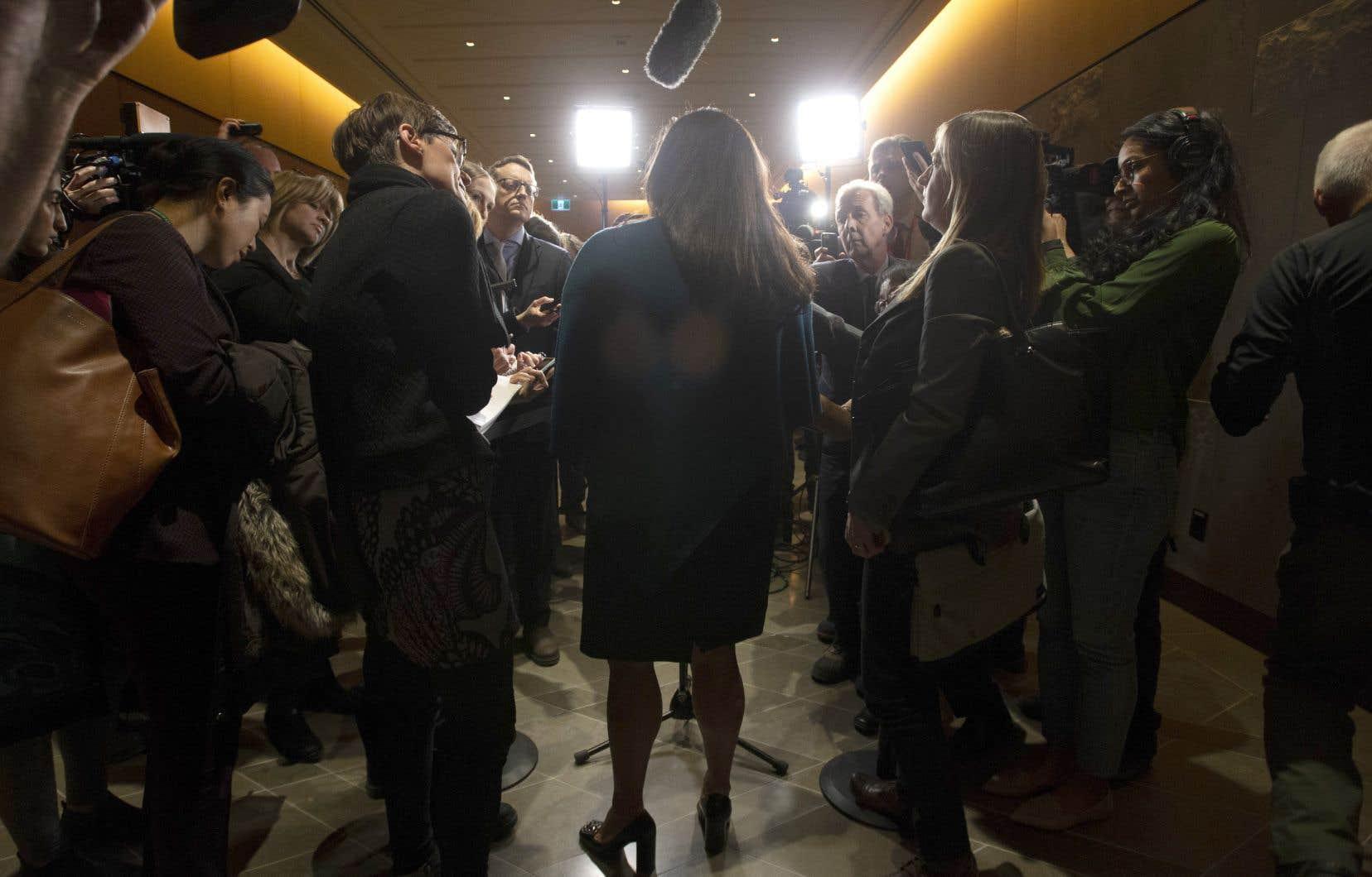 L'ex-ministre Jody Wilson-Raybould avant son témoignage mercredi
