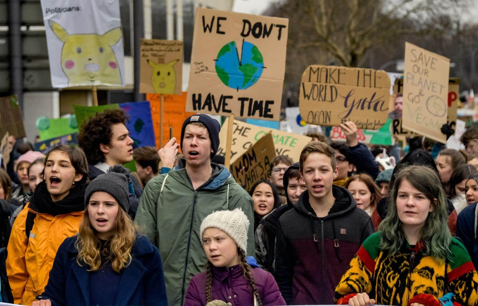 On retrouvait à la tête de la manifestation d'Hambourg la militante suédoise Greta Thunberg, qui est devenue la voix de sa génération dans ce dossier.