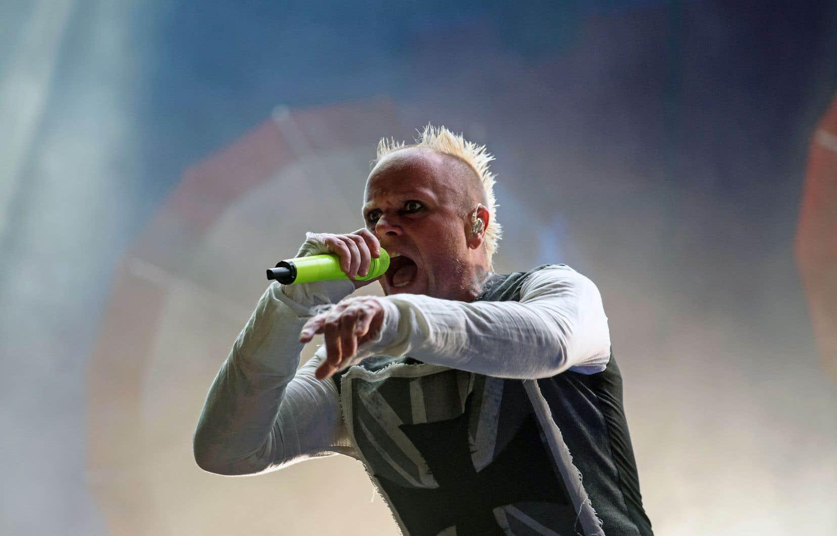 Keith Flint lors d'une performance à Séoul en 2015