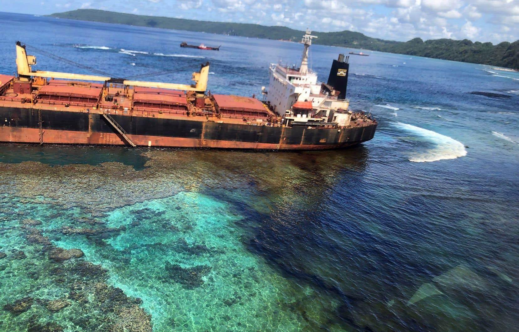 Le 4 février 2019, le vraquier «MV Solomon Trader» s'est échoué dans la région des Îles Salomon, dans le Pacifique.