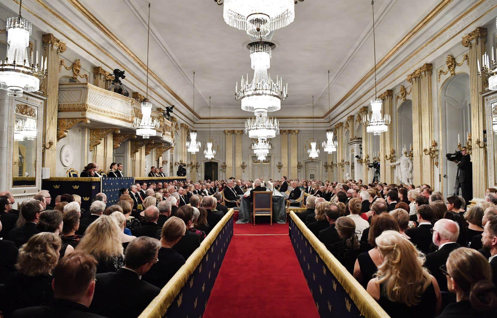 La remise du prix Nobel de littérature a été annulée l'année dernière après un exode à l'Académie suédoise, à la suite d'allégations d'agressions sexuelles.