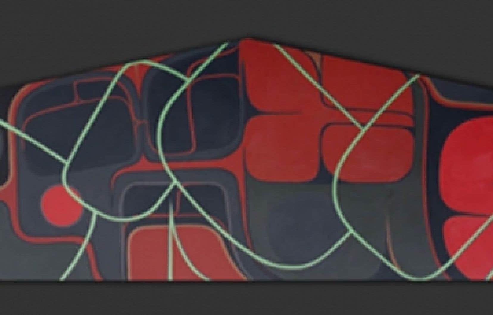Oeuvre de Sony Assu, originaire de la nation Laich-kwil-tach<br />