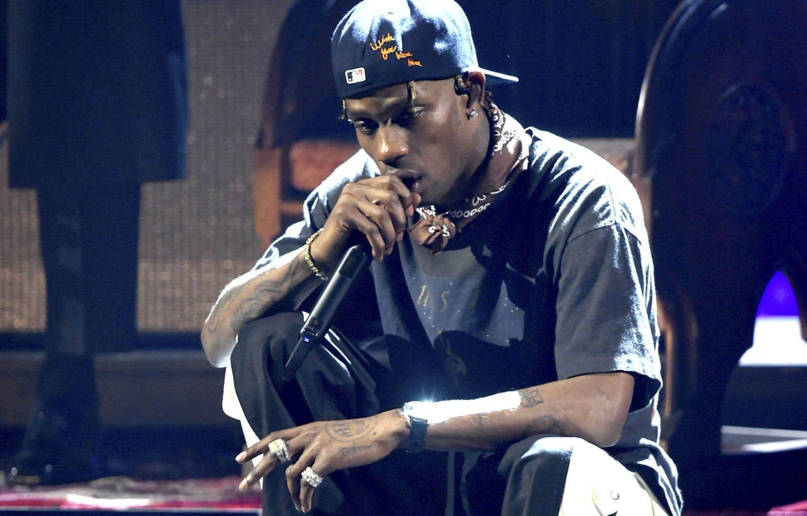 Le rappeur américain Travis Scott était mercredi soir au Centre Bell.