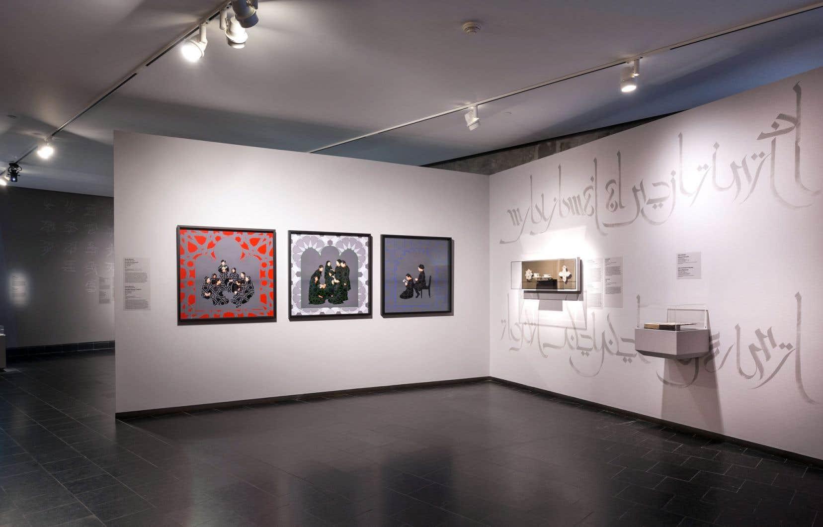 Vue de l'exposition «Connexions: notre diversité artistique dialogue avec nos collections» au Musée des beaux-arts de Montréal