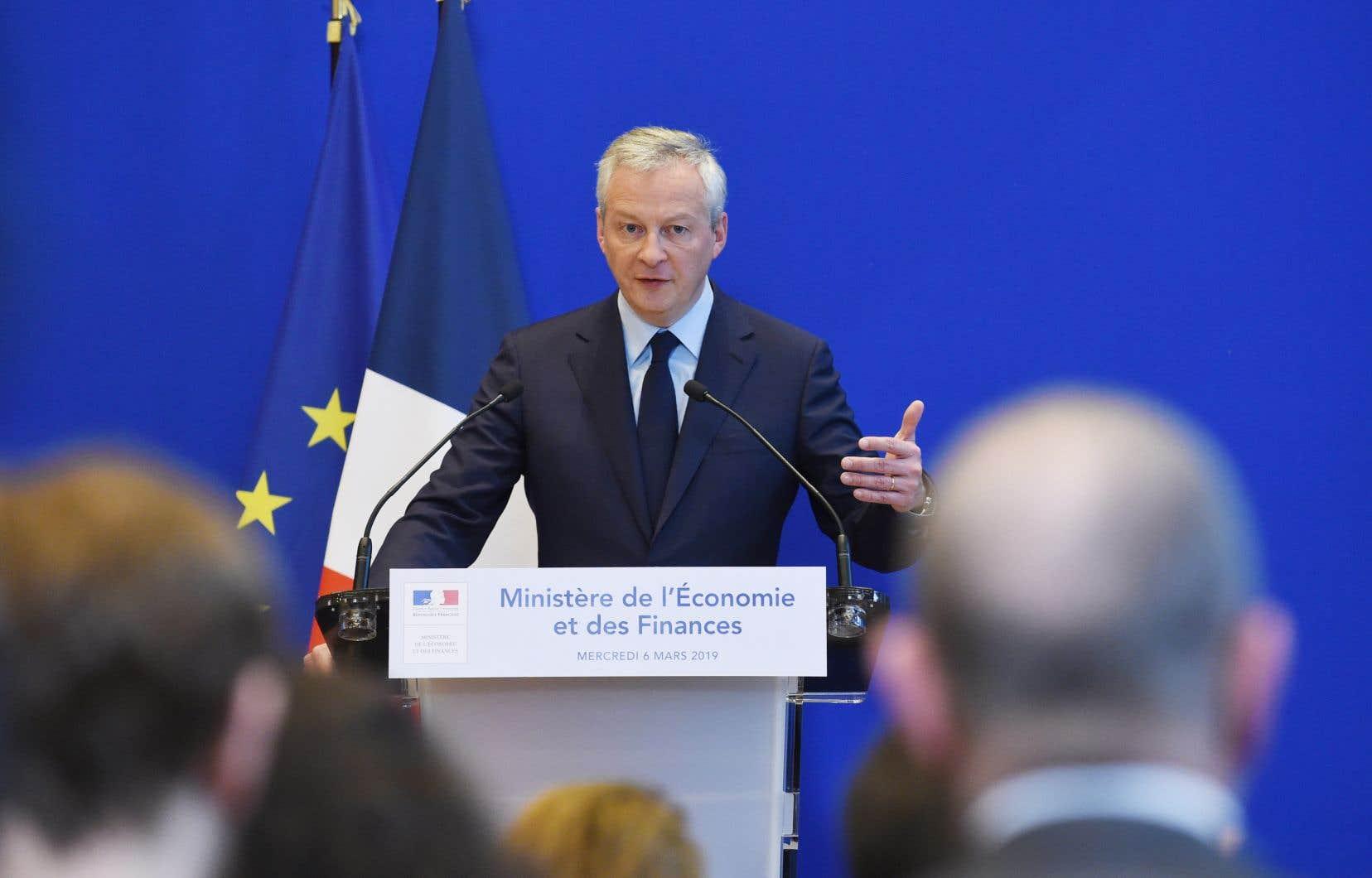 Cette taxe «a fait bouger les lignes, elle a ouvert une voie», a déclaré le ministre français de l'Économie, Bruno Le Maire.