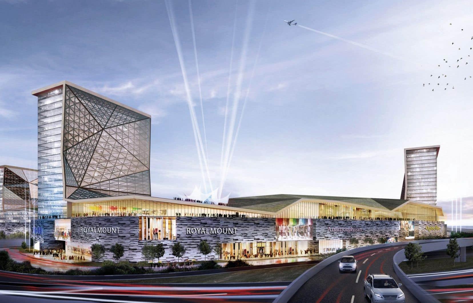 Le projet Royalmount, évalué à 2milliards, devrait naître en 2022 à l'intersection des autoroutes 15 et 40, un secteur déjà très achalandé.
