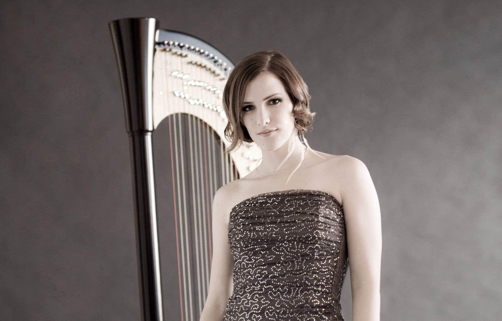 La harpiste Valérie Milot