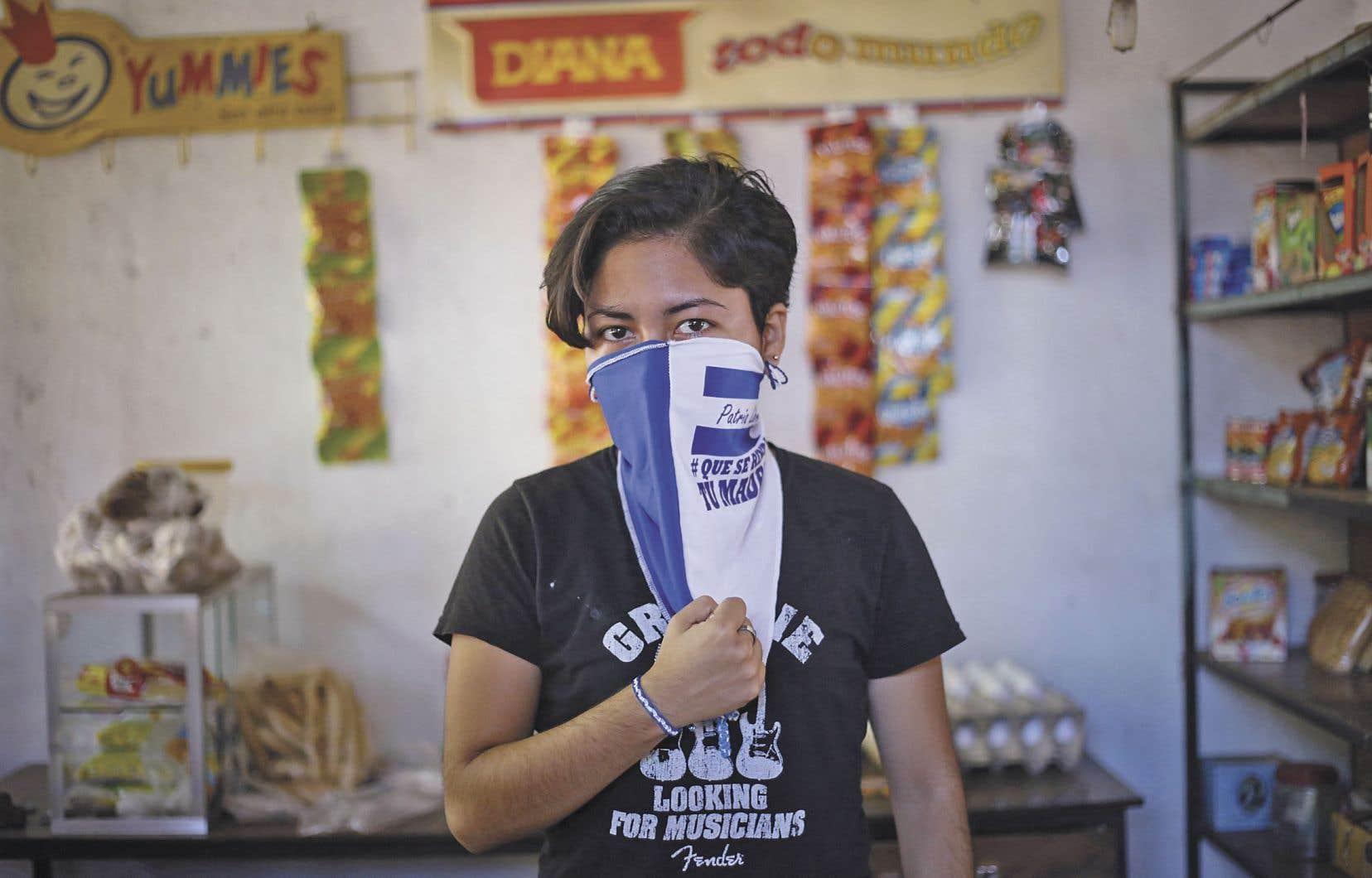 Ana Gabriela Nicaragua, étudiante, a été arrêtée puis emprisonnée après avoir protesté plusieurs mois contre le président Ortega.