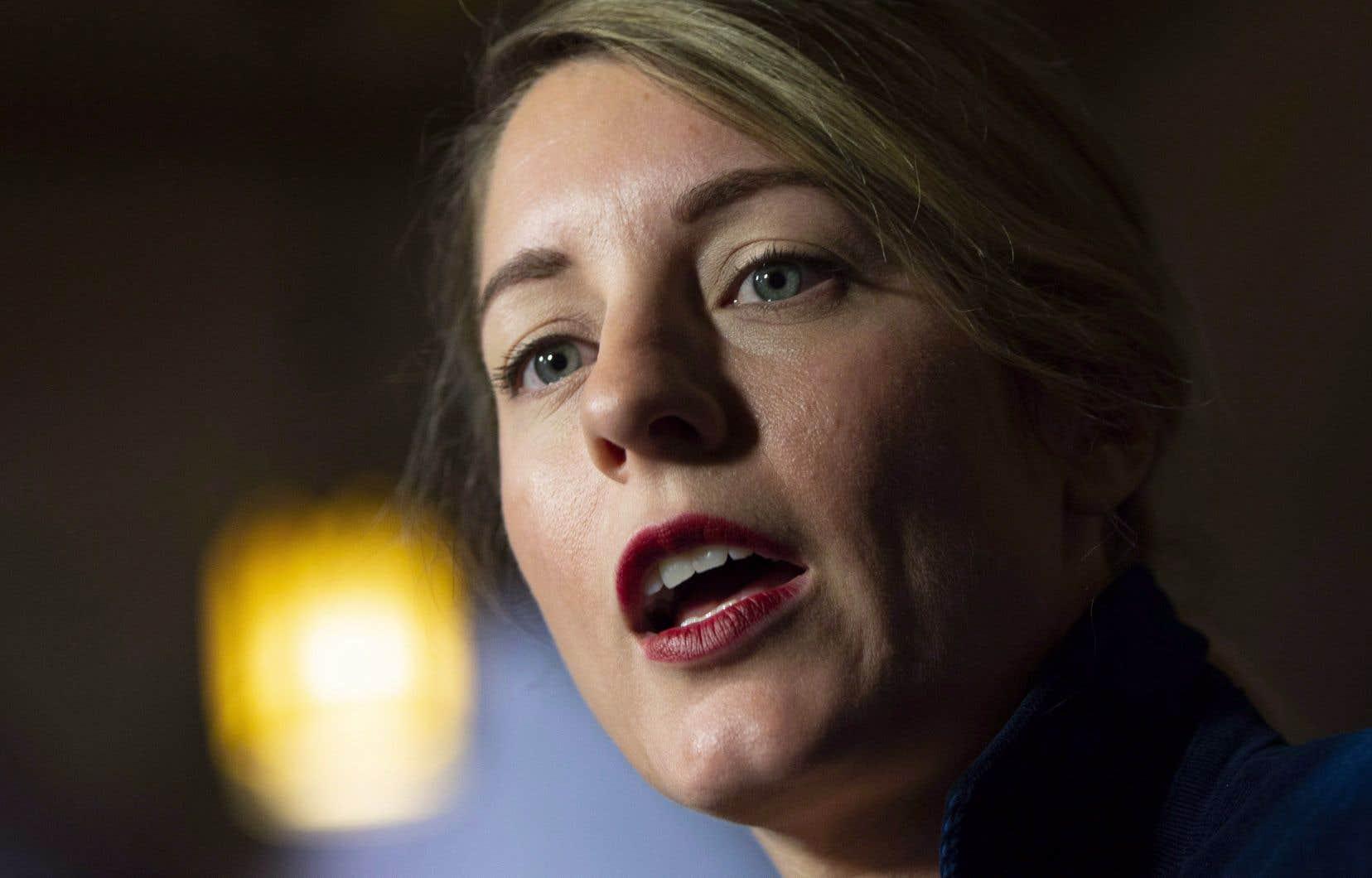 La ministre fédérale Mélanie Joly