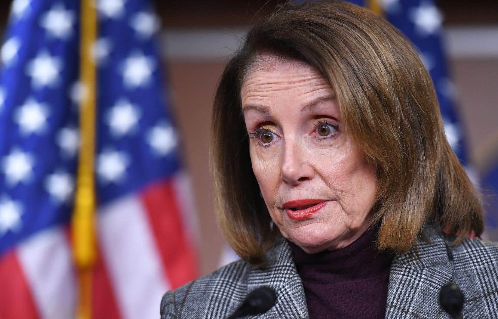 La chef des démocrates au Congrès américain, Nancy Pelosi
