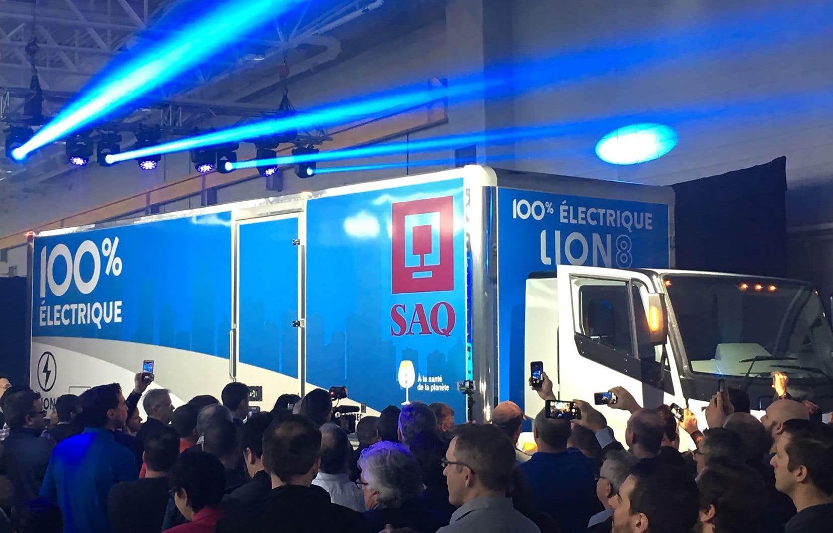 Le premier Lion8, qui prendra la route l'automne prochain, a déjà trouvé son acheteur, la Société des alcools du Québec.