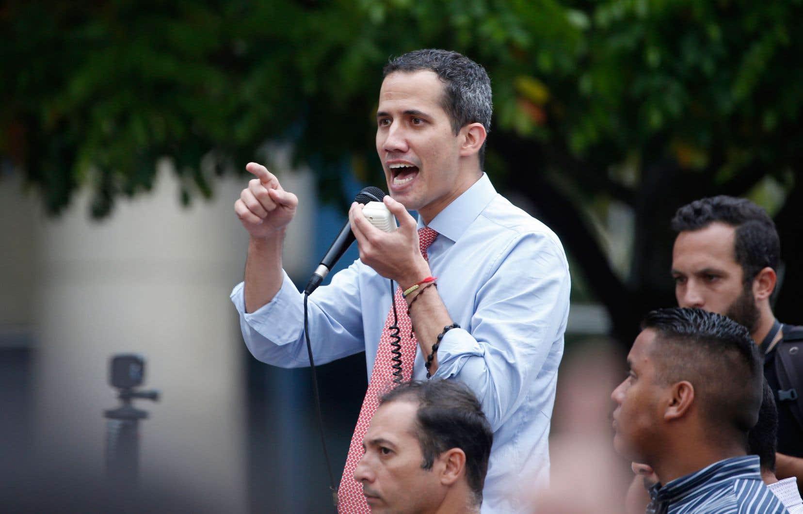Le président autoproclamé du Venezuela,Juan Guaidó
