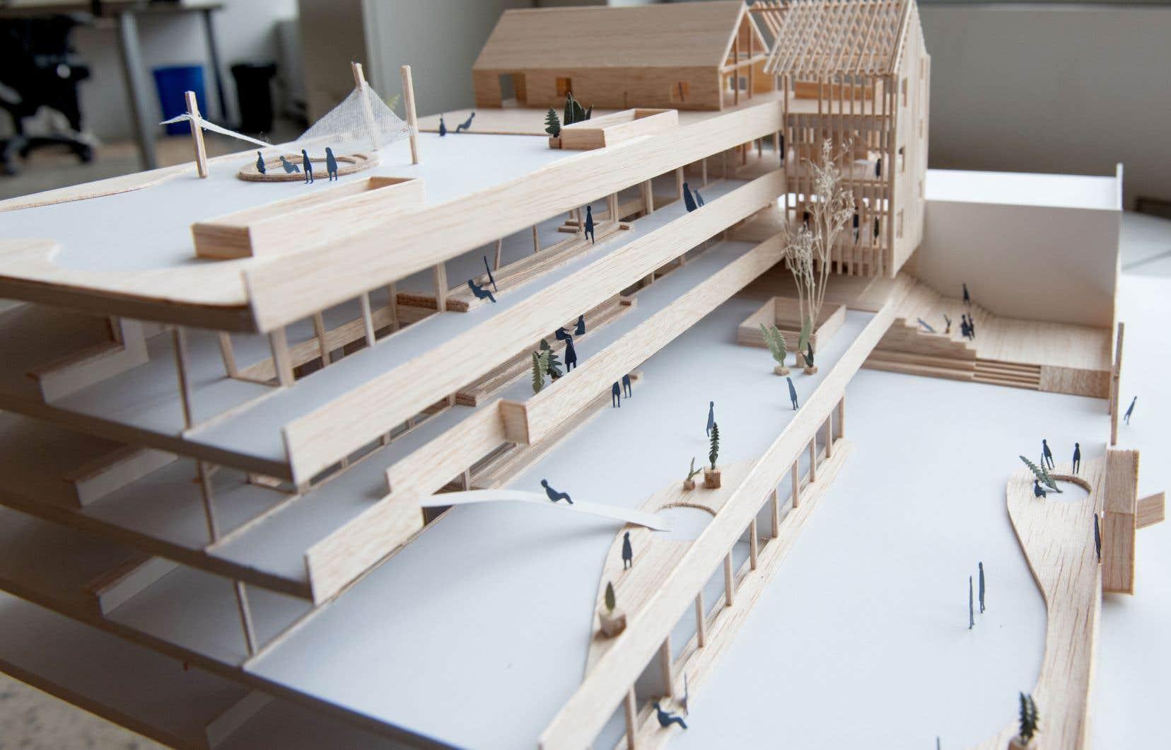 L'école devient un grand terrain de jeu avec cette maquette intitulée «La grande cabane».