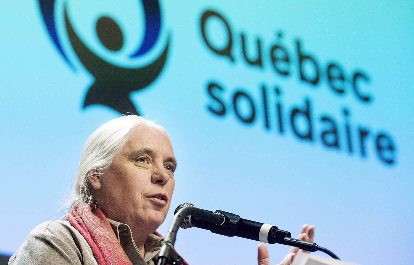 La co-porte-parole de Québec solidaire Manon Massé