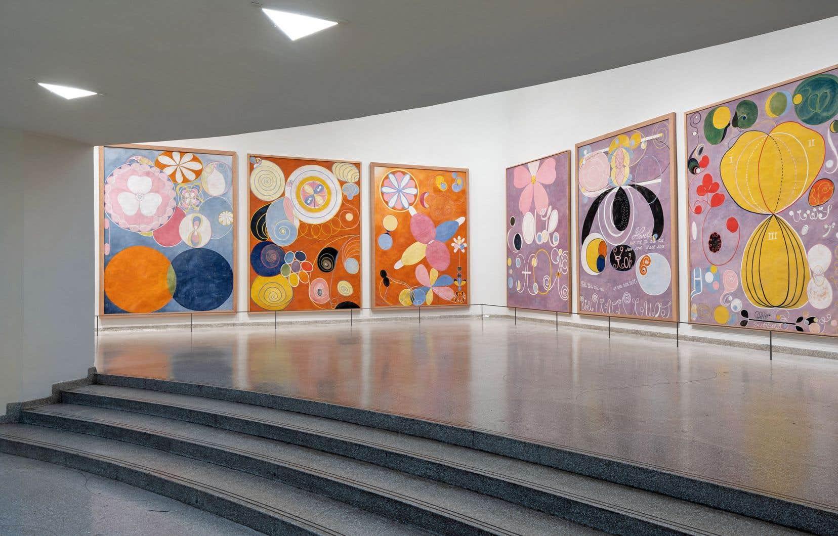 Vue de l'exposition «Hilma af Klint: Paintings for the Future» au Guggenheim