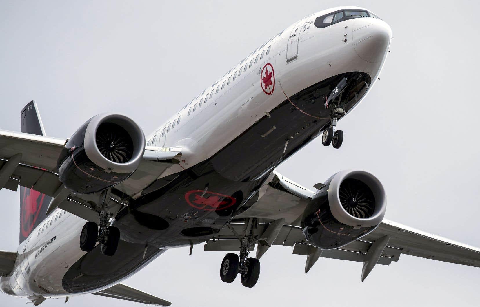 L'interdiction de vol touchant les Boeing 737 MAX coûte chaque jour 2,7 millions à Air Canada.