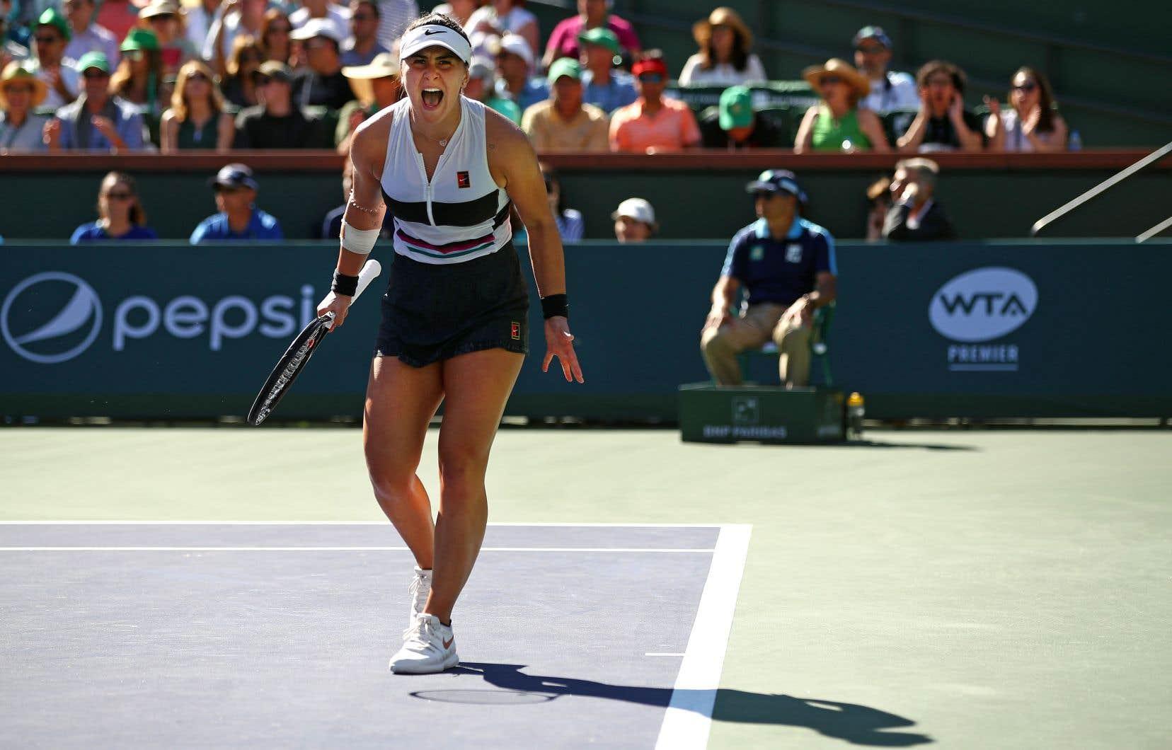 Grâce à sa victoire à Indian Wells, la canadienne Bianca Andreescu a atteint le 24e échelon mondial.