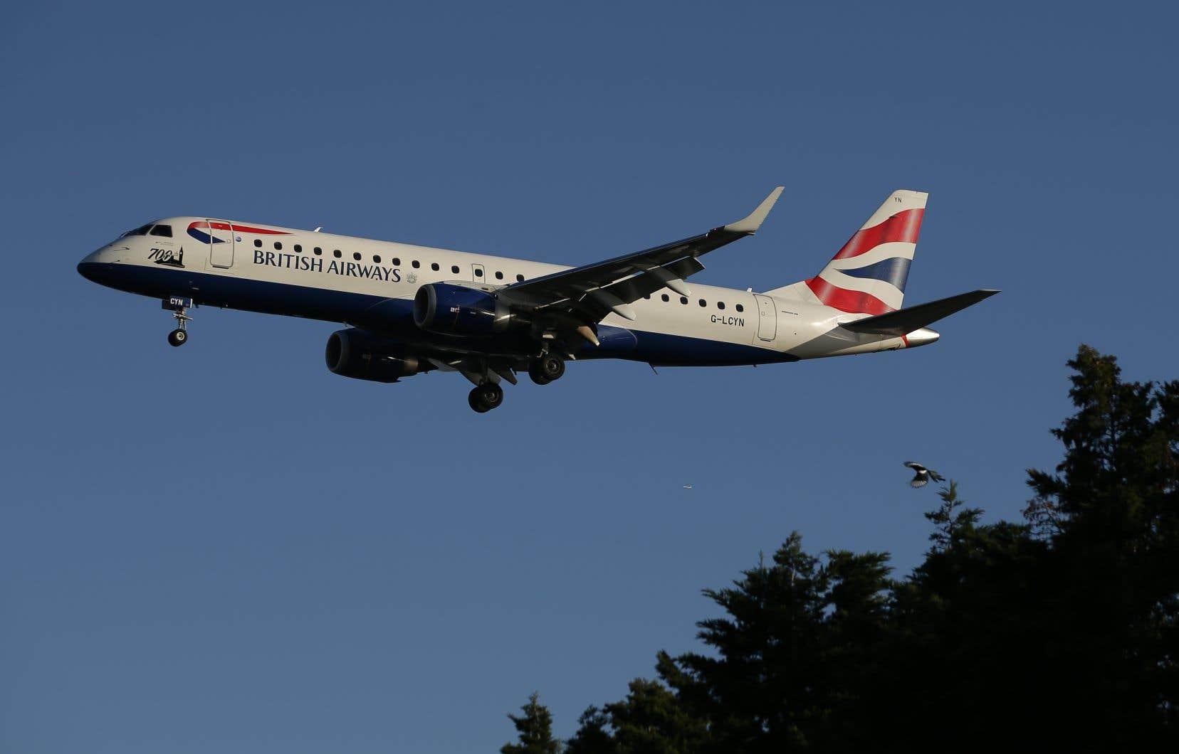 L'avion de la British Airways s'est posé en urgence à l'Aéroport international de Saint-Jean vers 2h30, heure locale.