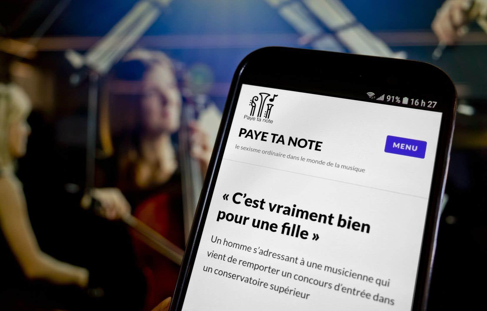 Le site internet Paye ta note s'attaque au harcèlement sexuel dans le milieu de la musique.