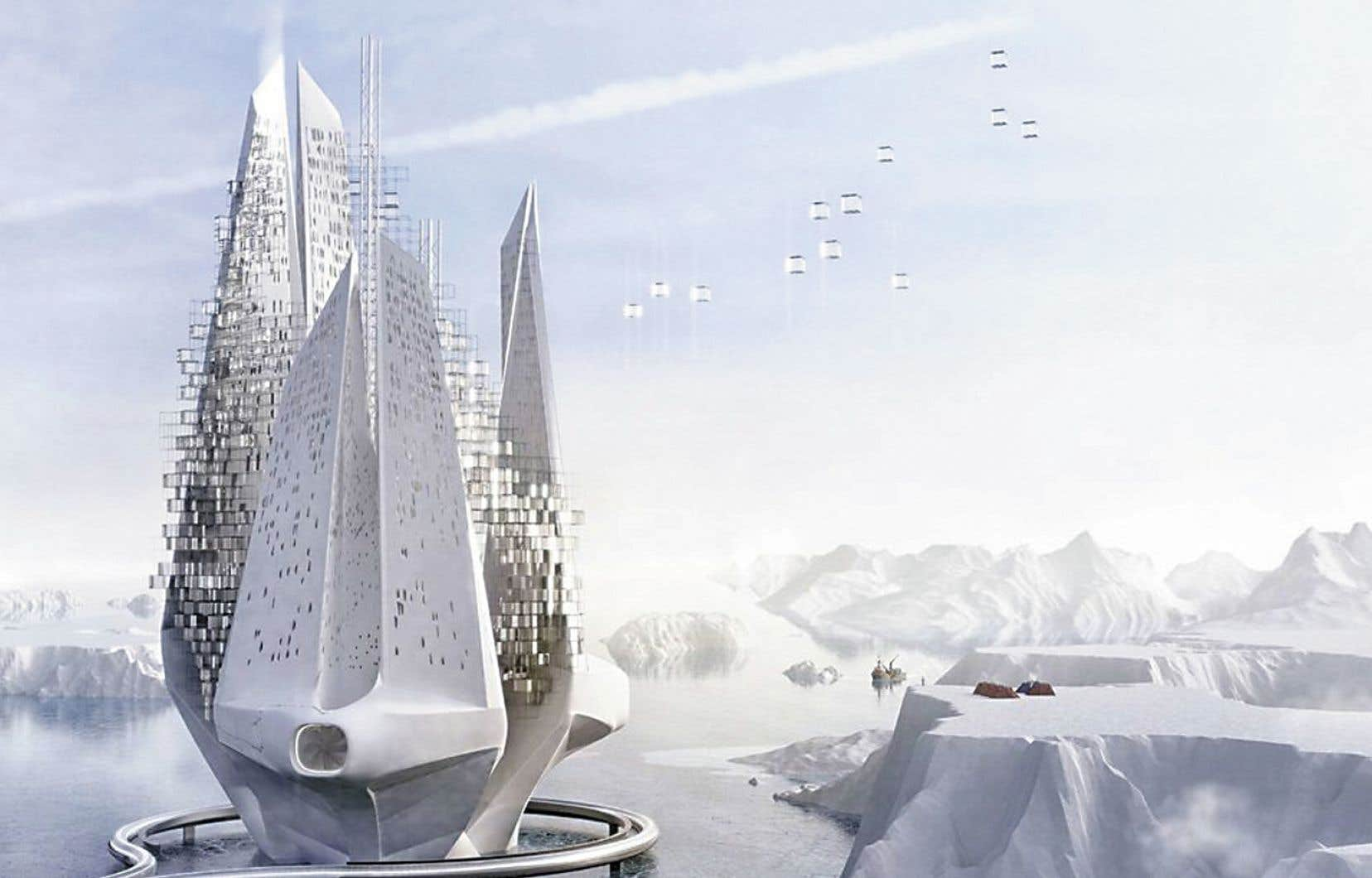 Le gratte-ciel flottant Heal-berga été pensé dans un contexte de réchauffement climatique et de montée des eaux.