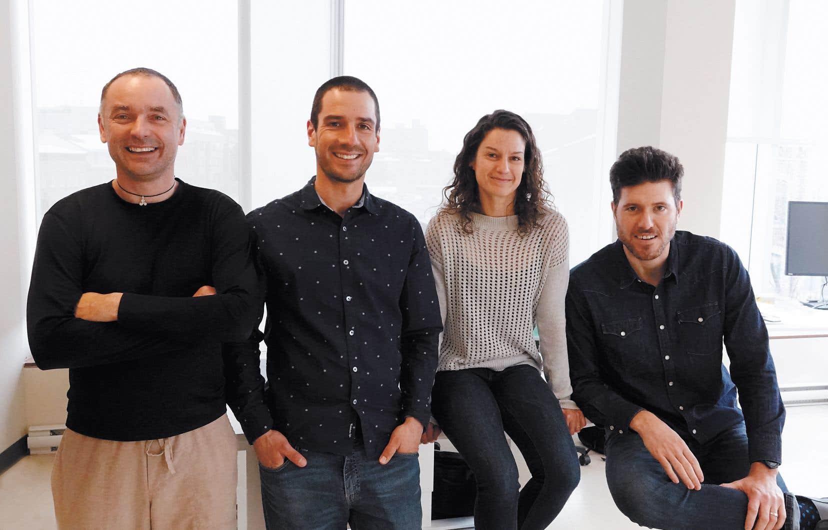 De gauche à droite: Erwan Gloaguen, Martin Blouin, Véronique Prince et Lorenzo Perozzi.