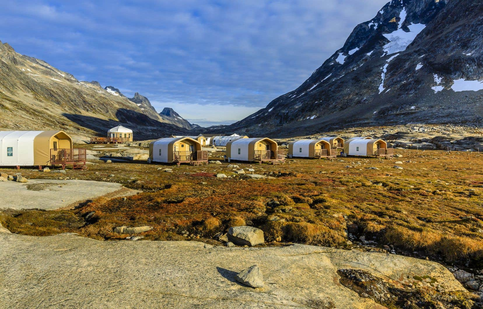 Le campement provisoire de Natural Habitat Adventures au Groenland
