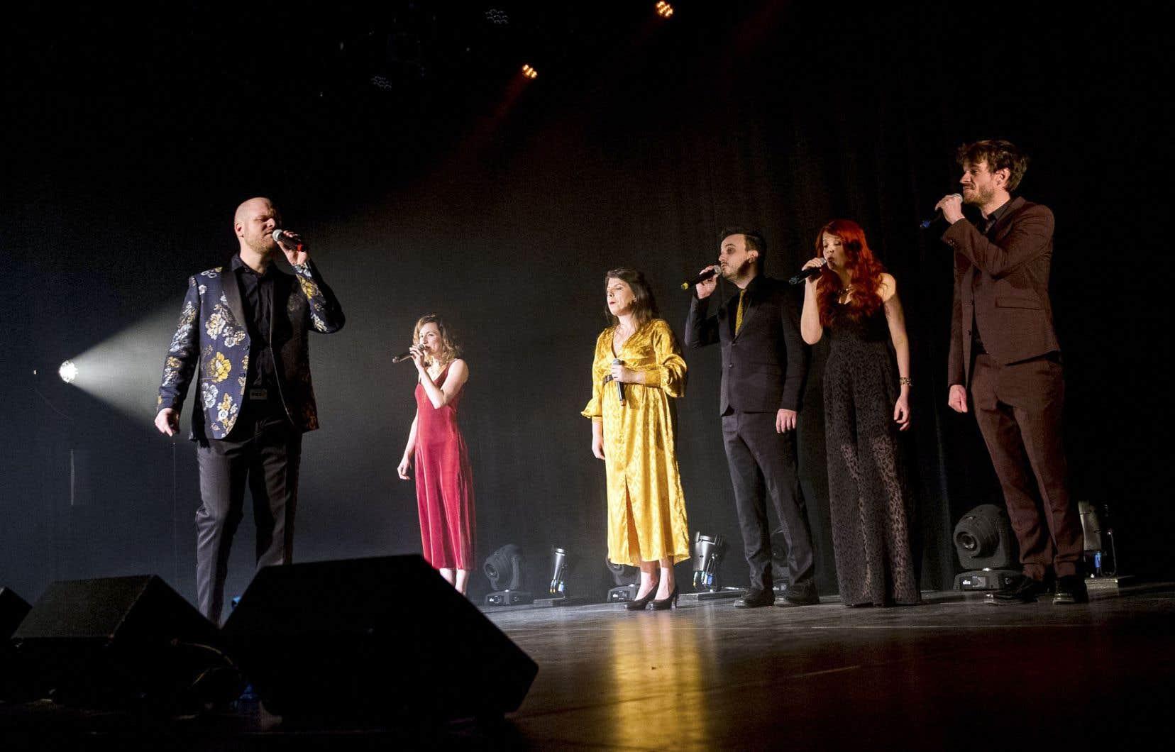 Jazz Affair est un groupe fondé à Québec et rassemblant six chanteurs. En fait d'instruments, chacun d'entre eux les imite à la manière d'un Bobby McFerrin.