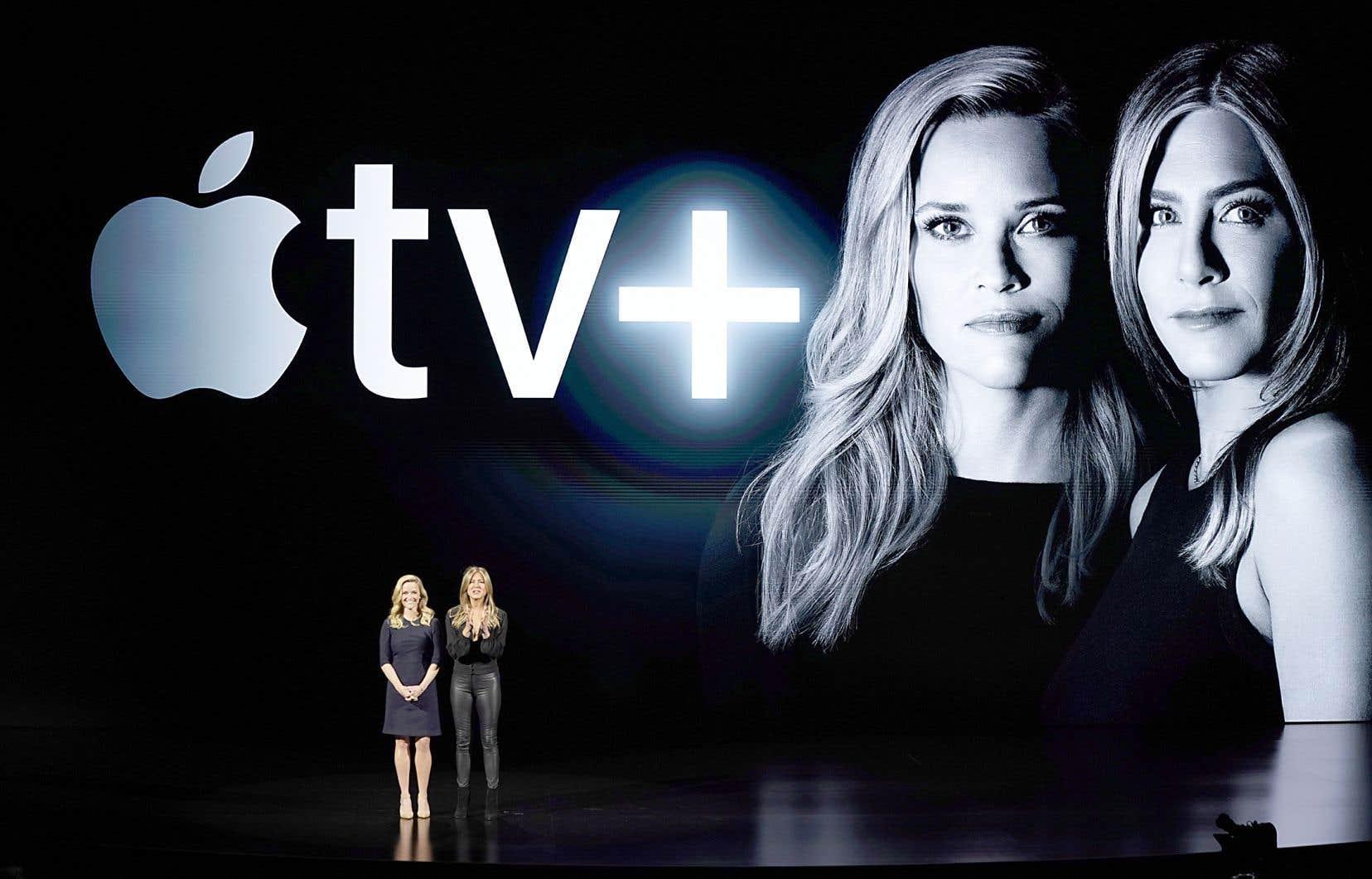 Le géant des technologies a fait son annonce à son siège de Cupertino, en Californie, lors d'un événement qui rassemblait lundi des célébrités comme Reese Witherspoon et Jennifer Anniston.