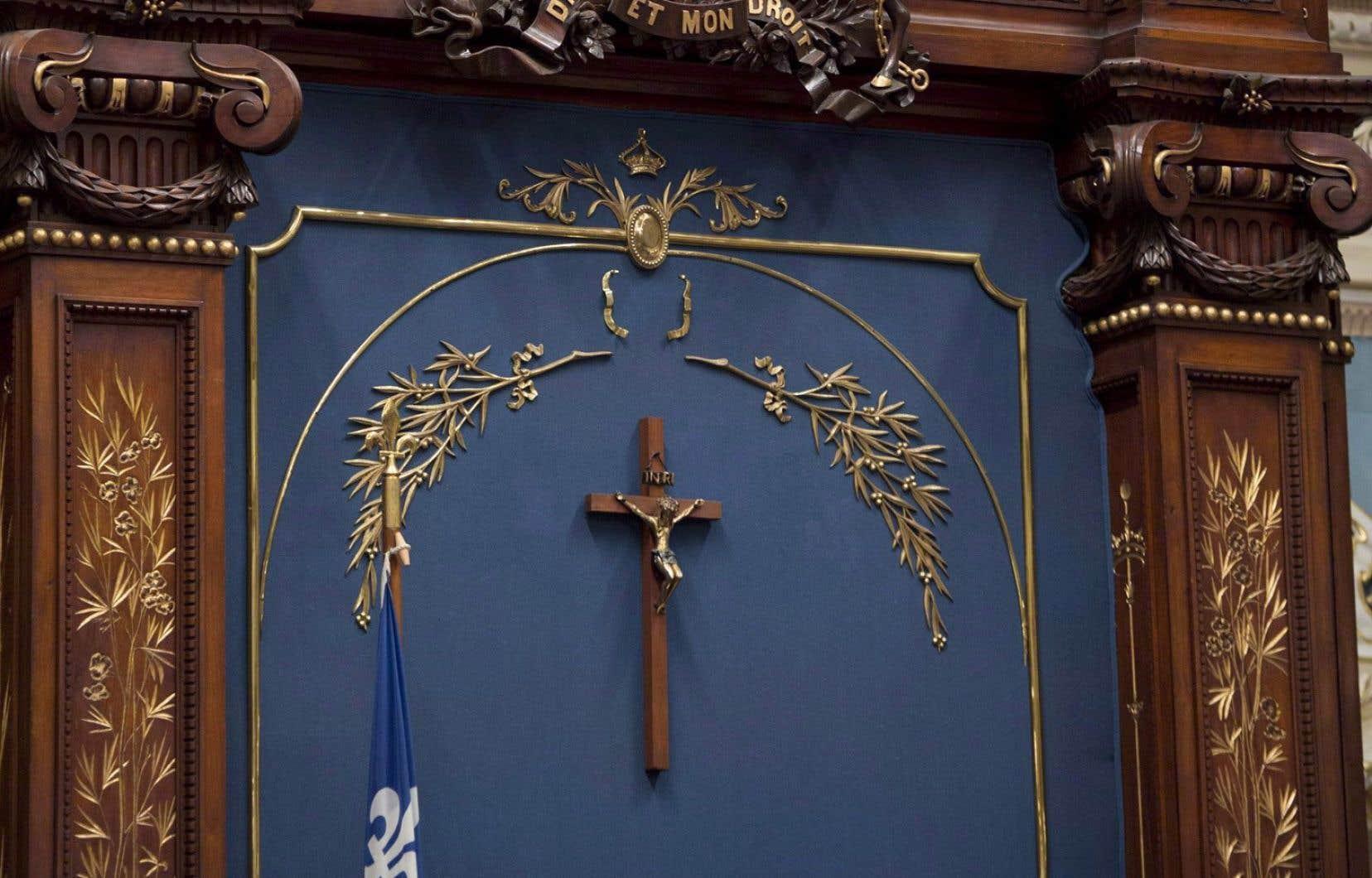 Le crucifix trône toujours à l'Assemblée nationale.