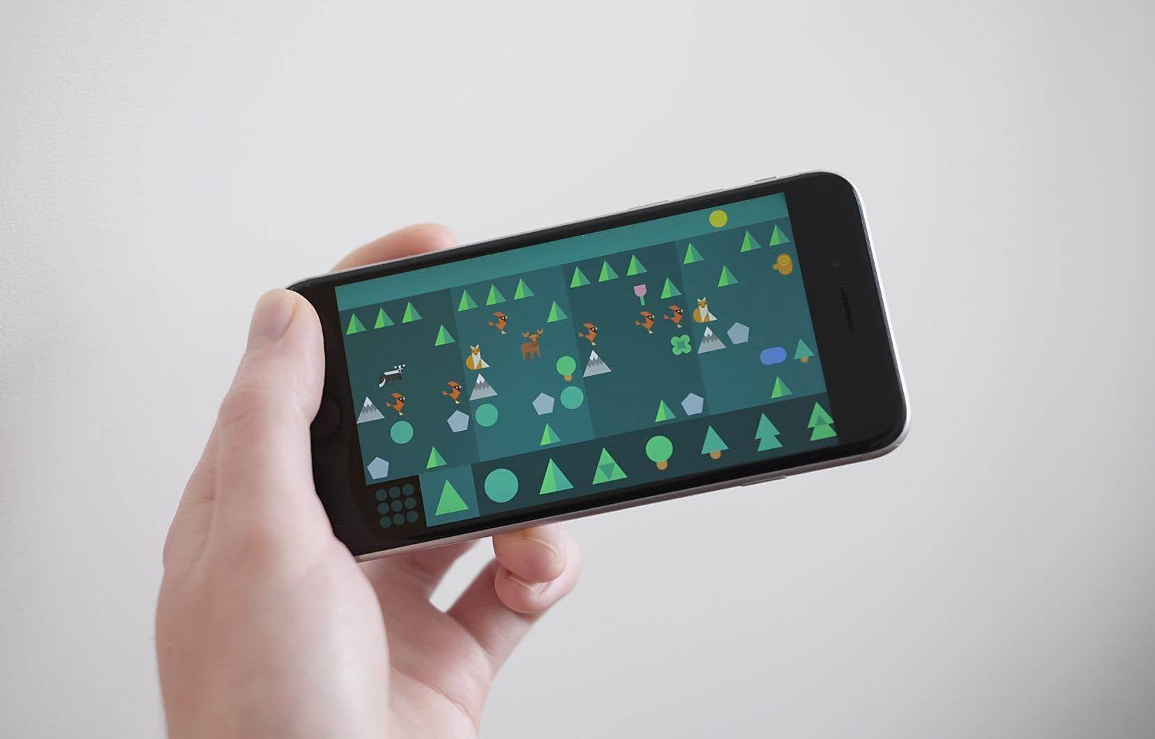 Dans l'application SoundForest, les notes de musique sont remplacées par de petits animaux.
