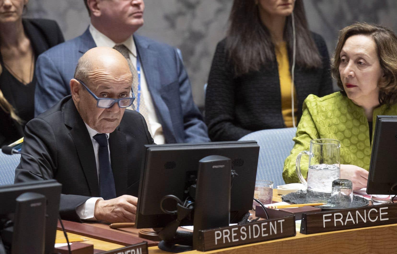 Jean-Yves Le Drian, président du Conseil de sécurité des Nations unies (ONU)