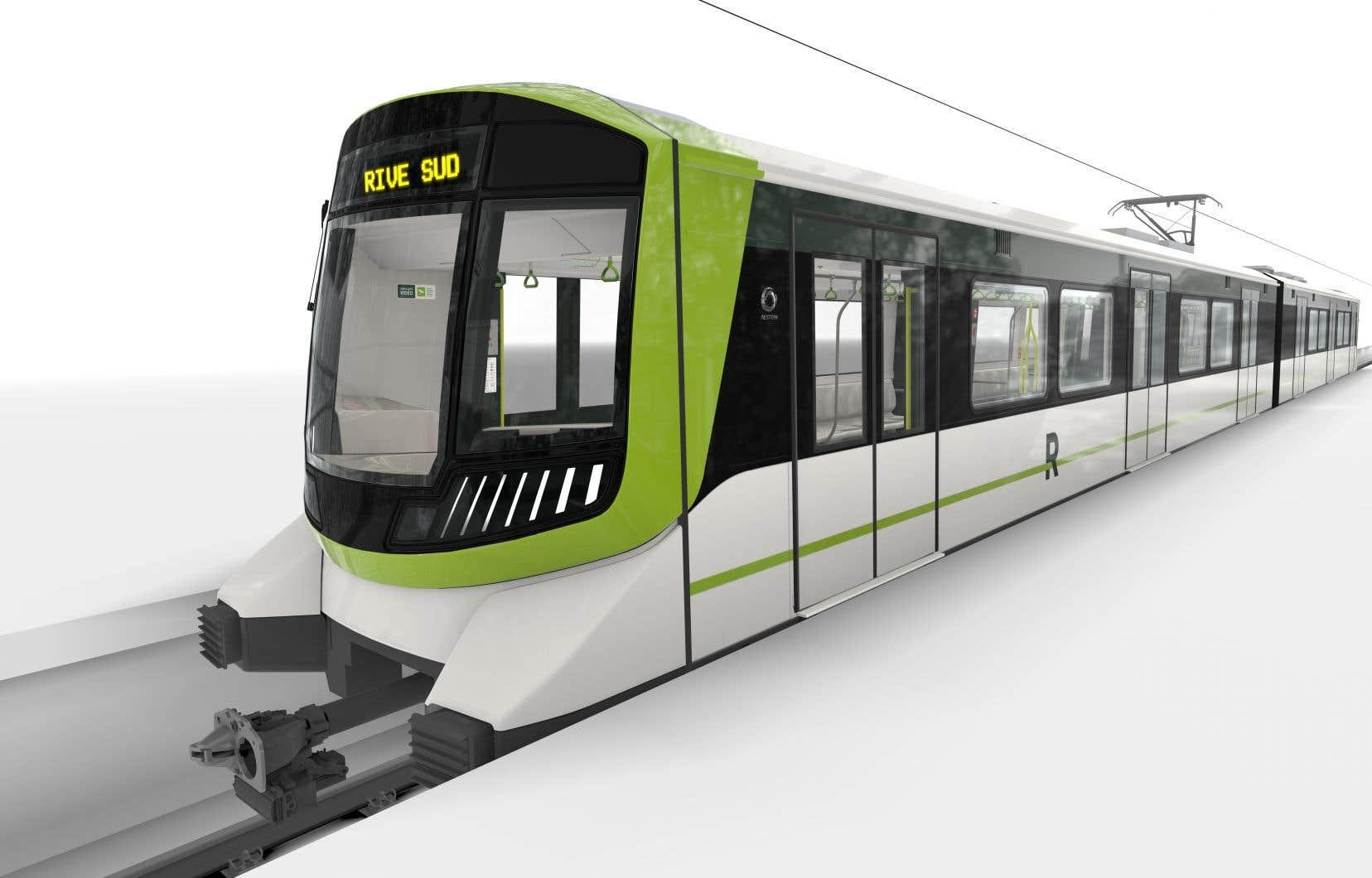 Chaque rame de quatre voitures, qui sont automatisées, permettra d'accueillir 128 passagers assis. On promet un service wifi, un plancher chauffant et de la climatisation.