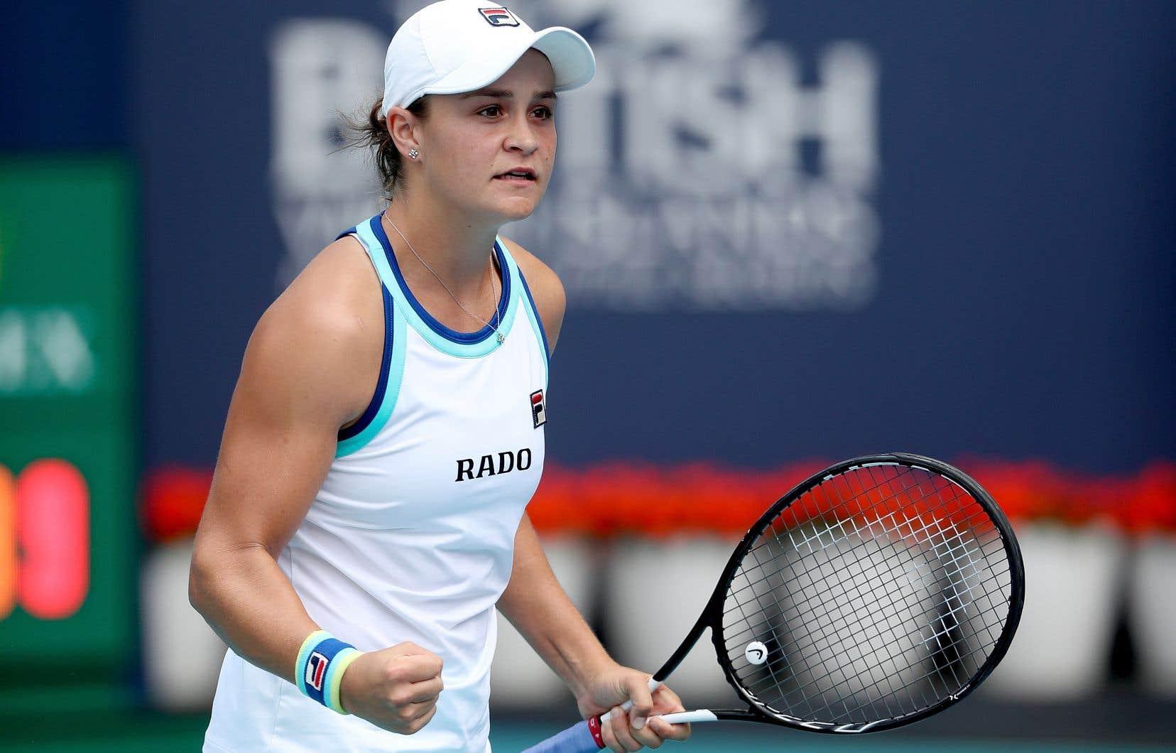 Ashleigh Bartyse retrouvera au neuvième échelon mondial lors de la publication de la mise à jour du classement de la WTA la semaine prochaine.