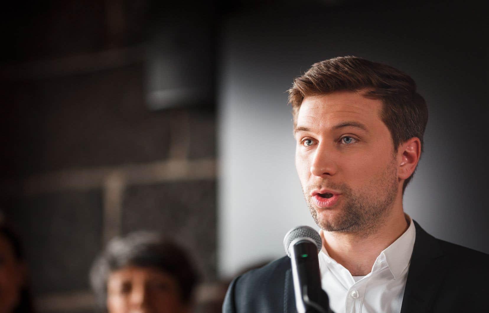Le co-porte-parole de Québec solidaire,Gabriel Nadeau-Dubois