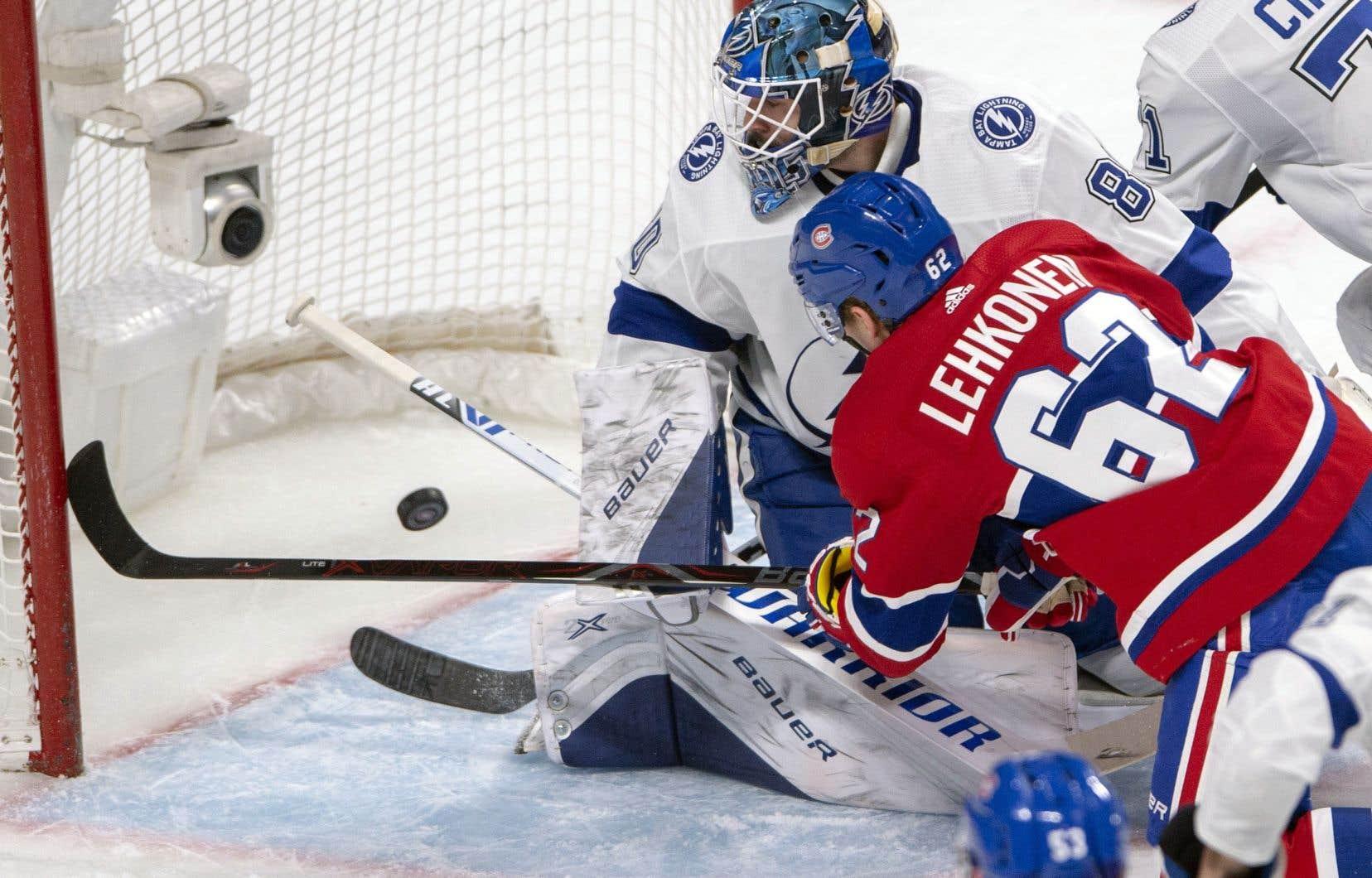 Un but d'Artturi Lehkonen a procuré mardi au Canadien une victoire contre Tampa Bay.