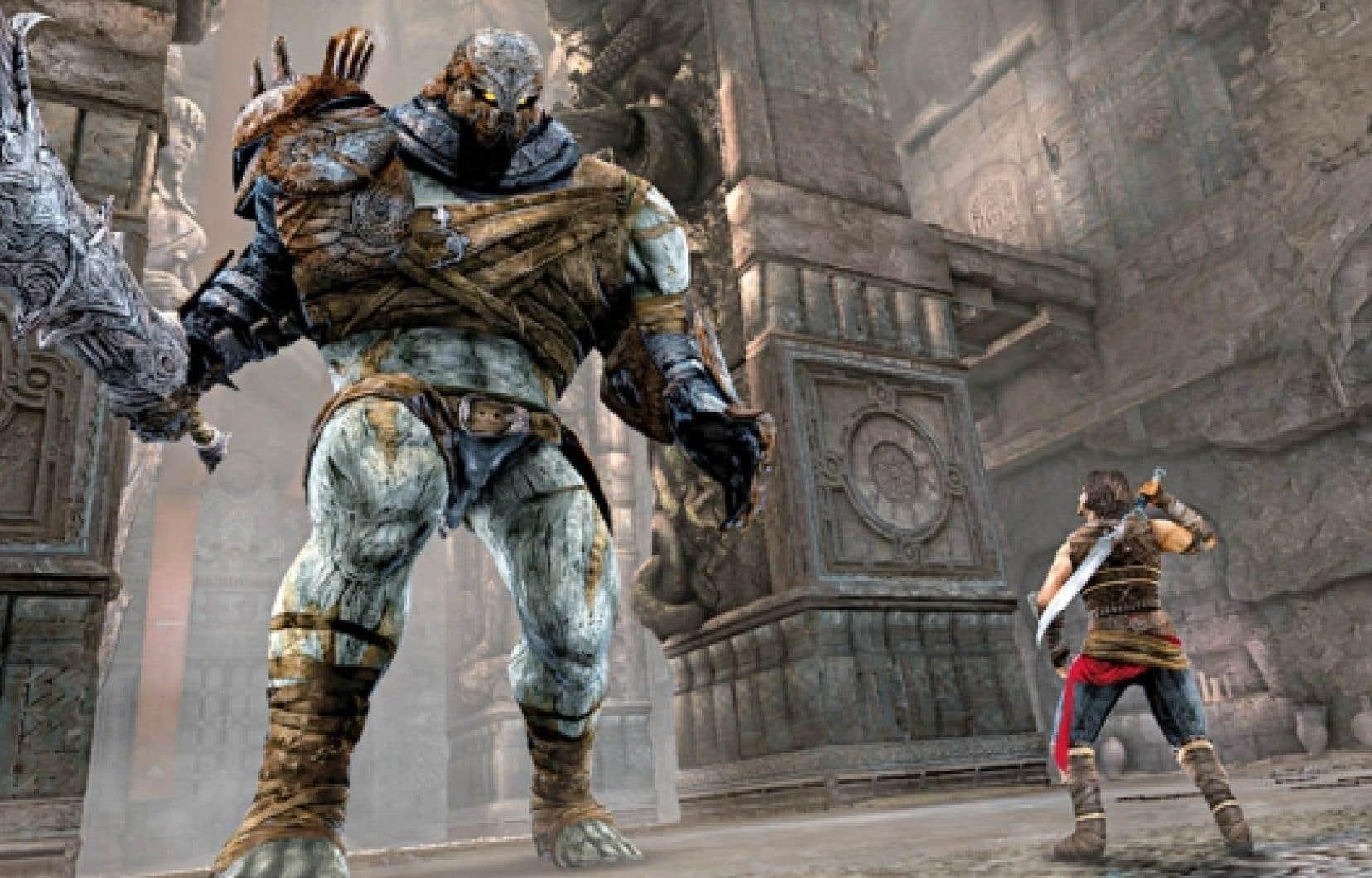 Un Troll et le personnage principal de Prince of Persia: Forgotten Sands