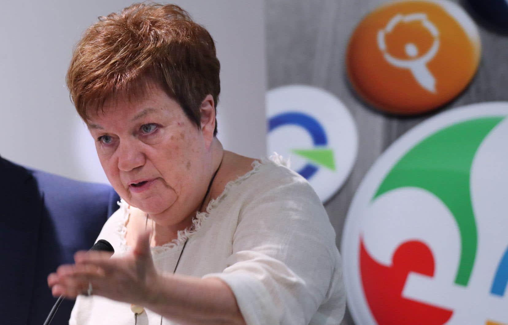 La présidente des OUI Québec, l'ancienne syndicaliste Claudette Carbonneau